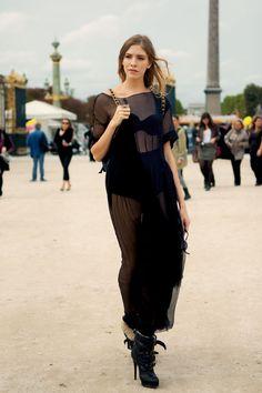 Elena Perminova Model  -Burberry Boots  #fashion
