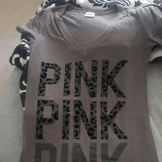 OFFER Grey VS cheetah Tee Like New, xs, can fit MUCH bigger Victoria's Secret Tops Tees - Short Sleeve