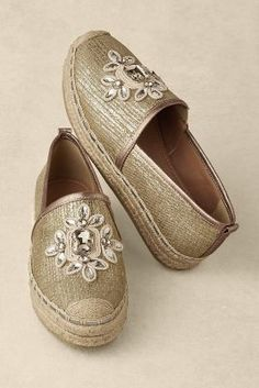 Estella Espadrilles - Metallic Shoes. Espadrille. | Soft Surroundings