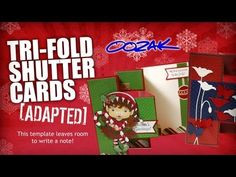 Trifold Shutter Card - Tutorial - has lots of room for writing, unlike normal tri-fold shutter cards -- THIS IS LOTS EASIER THAN THE REGULAR TRI-FOLD CARDS