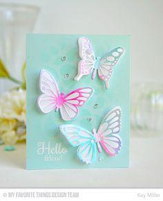 Flutter of Butterflies - Lace Die-namics, Flutter of Butterflies - Solid Die-namics - Kay Miller #mftstamps