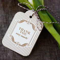 I shall like to be thanked in this manner.