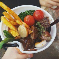 Korea creative snack road steak 牛排杯 http://tummyfriend.com/korea-road-steak-snack/ #steak# #snack# #tummyfriend# #foodfilming#
