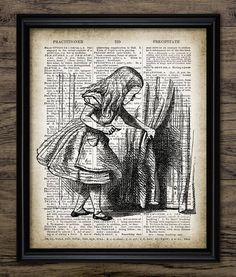 Alice In Wonderland Print Behind The Curtain by InstantGraphics