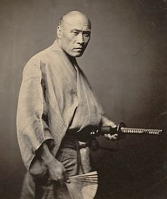 Samurai in Yokohama, ca. 1866 by Felice Beato. Rare photo of true samurai: a year or two after this photograph was taken, the samurai were abolished.