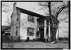 2.  Historic American Buildings Survey W. N. Manning, Photographer, January 25, 1935 FRONT AND SIDE VIEW, S.W., FACING SOUTH - Green-Woodruff House, Alexandria-Jacksonville Road, Alexandria, Calhoun County, AL