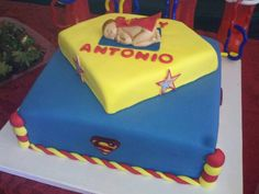 Superman Baby Shower Cake