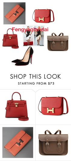 """""""Fengyaqiandai genuine leather bags20160120003"""" by houseofhello on Polyvore featuring The Cambridge Satchel Company, Christian Louboutin, women's clothing, women's fashion, women, female, woman, misses and juniors"""