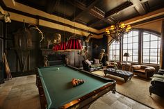 Retire with select company, enjoy a drink, and discover the top 80 best billiards room ideas. Explore pool table focused designs with wet bars and lounges. Billards Room, Room Interior, Interior Design, Interior Ideas, Game Room Basement, Basement Ideas, Basement Ceilings, Basement Bars, Basement Designs