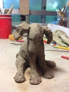 Love, love, love this! Pottery Animals, Ceramic Animals, Clay Animals, Pottery Studio, Pottery Art, Ceramic Pottery, Ceramic Art, Dog Sculpture, Animal Sculptures