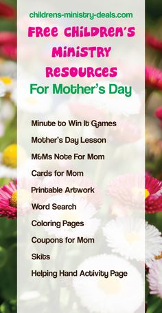 10 FREE Mother's Day Children's Ministry Resources