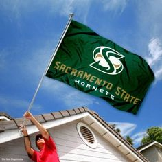 Sacramento State Hornets Cal State University Large College Flag by College Flags and Banners Co.. $29.95. This Sacramento State Flag measures 3x5 feet in size, has quadruple-stitched fly ends, is made of durable 100% Nylon, and has two metal grommets for attaching to your flagpole. The screen printed California State University Sacramento logos are Officially Licensed and Approved by California State University Sacramento and are viewable from both sides with the opposite side b...