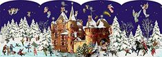 Coppenrath 'Christmas at the Castle' Advent Lantern: Amazon.co.uk: Kitchen & Home