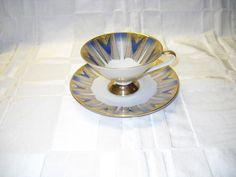 vintage Bavaria Porcelain Atomic Cup & Saucer Deco Modern mid century uk.picclick.com