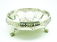 Solid Silver Bowl Sterling Pierced Claw & Ball by DartSilverLtd