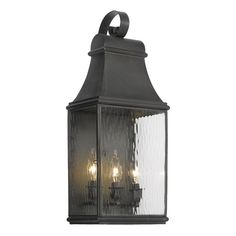 Jefferson 3-Light Outdoor Wall Sconce in Charcoal