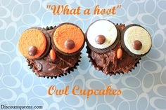 """DIY Simple """"What a Hoot"""" Owl Cupcakes!"""