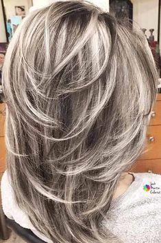 Feathered Hair Cut, Feathered Hairstyles, Bob Hairstyles, Ash Blonde Hair, Dark Hair, Grey Hair, Long Gray Hair, Silver Blonde, Silver Hair