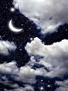 Would be interesting to do something with a mid night sky like this. Maybe create some shape in the clouds Stars And Moon, Sky With Stars, Galaxy Wallpaper, Wallpaper Backgrounds, Night Sky Wallpaper, Iphone Wallpaper, Ciel Nocturne, Beautiful Moon, Moon Art