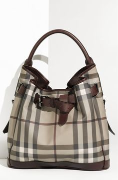 Burberry Belted Check Print Hobo available at Nordstrom - Sale! Shop at Stylizio for women's and men's designer handbags luxury sunglasses watches jewelry purses wallets clothes underwear & more! Burberry Handbags, Hobo Handbags, Purses And Handbags, Burberry Bags, Hobo Purses, Estilo Glamour, Sacs Design, Bowling Bags, Burberry Women
