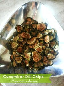"""Dehydrated Cucumber """"potato chips."""" Yes! Now I don't have to pickle all of the extra cukes in my garden! Use any spices you like. I'm thinking bbq seasoning."""