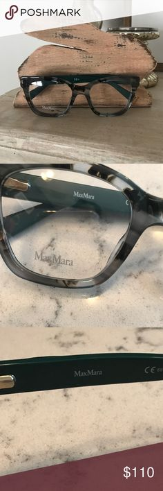 MaxMara frames BRAND NEW Adorable gray and green tortoise frames. Authentic MaxMara, ready for prescription lenses!! Paid much more, but no longer need Asking $110 MaxMara Accessories Glasses