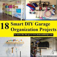 18 Smart DIY Garage Organization Projects - HOME and LIFE TIPS Garage Organization, Bathroom Organization, Organization Ideas, Organizing, Life Hacks, Life Tips, Organize Your Life, Diy Garage, Home Projects