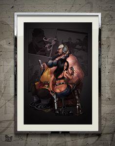 Tattoo — Original Art by David Xin by JokerWorkshop on Etsy