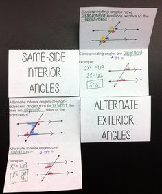 Parallel Lines with Transversals Foldable - perfect sized for interactive notebooks!