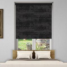 Controliss Ritz Charcoal battery powered roller blind #Home #HomeDecor #InteriorDesign #Decor #RollerBlinds  #CreateYourHome #BudgetBlinds #WindowShades #Window  #Design #Blind #WindowCoverings #Windows #MadeinUK