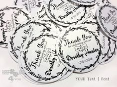 Items similar to 24 Anniversary Personalized Round Tag_Personalisert Hänger_ Etichette Personalizzati_Etiquettes personnalisées_All Colors_Your Text on Etsy Wedding Tags, Etiquette, All The Colors, Anniversary, Personalized Items, Unique Jewelry, Handmade Gifts, Etsy, Black