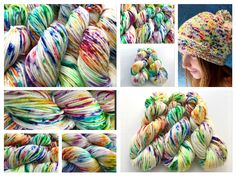 Spectrumycin hand dyed yarn colorway by Witch Candy