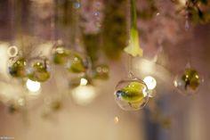 Transparent glass ornaments