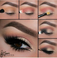 Glam Smoky Eye by elymarino I pampadour motives eotd eyes eyeshadow pictorial tutorial beauty makeup Eye Makeup Tips, Makeup Goals, Love Makeup, Hair Makeup, Teen Makeup, Pretty Makeup, Eyeshadow Makeup, Makeup Ideas, Makeup Brush