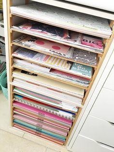 Bonjour bonjour!     Toutes les scrappeuses en rêvent, c'est normal, on veut toutes ranger nos papiers comme on voit dans les boutiques et ...