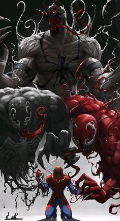 Artwork from the Marvel universe. Venom Comics, Marvel Venom, Marvel Villains, Marvel Comics Art, Bd Comics, Marvel Characters, Marvel Heroes, Spiderman Art, Amazing Spiderman
