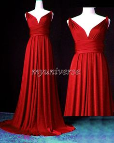 Red Formal Infinity Dress Bridesmaid Dress Wrap Dress Wedding Maxi Dress Women Evening Sexy on Etsy, $99.00