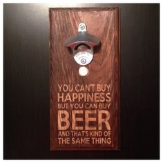 You Can't Buy Happiness But You Can Buy by WanderlustWoodworks, $37.00