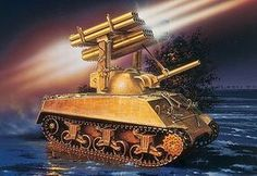 Italeri M4A3 Sherman Calliope Plastic Model Military Vehicle Kit 1/35 Scale #550288
