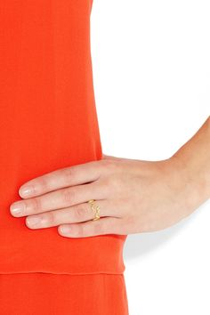 Solange Azagury-Partridge emerald and snake ring.  Loves together.  $4,600