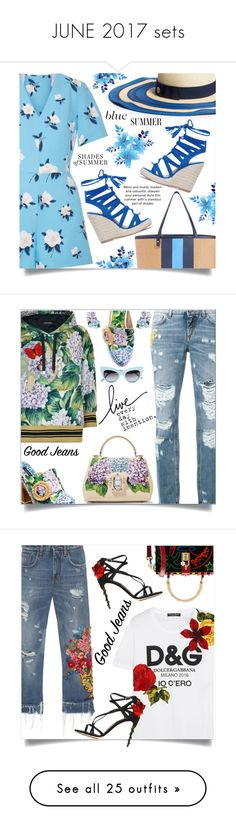 """JUNE 2017 sets"" by shoaleh-nia on Polyvore featuring Draper James, Dolce&Gabbana, Boohoo, Dorothy Perkins, Givenchy, Call it SPRING, BP., J.Crew, Casetify and 7 For All Mankind"