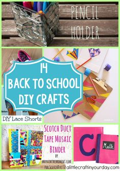 14 Back To School DIY Crafts | A Little Craft In Your DayA Little Craft In Your Day