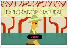 """""""Explorador natural"""" es un sencillo juego para determinar el origen de los distintos materiales y seres que encontramos en la naturaleza: mineral, vegetal y animal."""