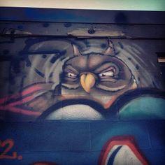 Owl street art. Denver