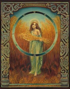 "Ceres is the Roman Goddess of grain, and Her name means ""wheat"" or ""grain."" It is still heard in our word cereal.She is an ancient Italian Goddess of the harvest, and Her worship in Rome is very old."