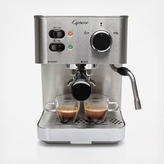 Featuring an advanced pump boiler system and two filter choices, the commercial-grade Capresso EC PRO Professional Espresso & Cappuccino Machine is the ideal choice for brewing cafe_ quality espresso and cappuccino at home. With two filter options, coffee