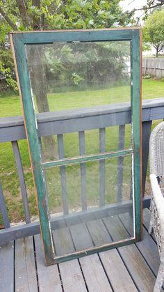 Vintage Wood Window, Two Pane, 2 Pane, Old Wood Window, Home Decor, Antique Window, Country Decor, Wedding Sign, Menu Board, Wood Sign 155