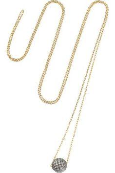 Disco Ball 18-karat gold diamond necklace #necklace #women #covetme #Noor Fares