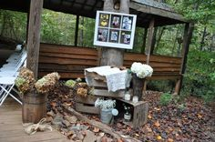Rustic Wedding Crates, Window seal, and lace