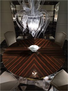 Host beautiful dinner parties with the Astro dining table from the Roberto Cavalli Home Interior's Iconic Collection kofc.co.uk